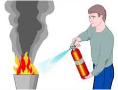 éteindre un départ d'incendie